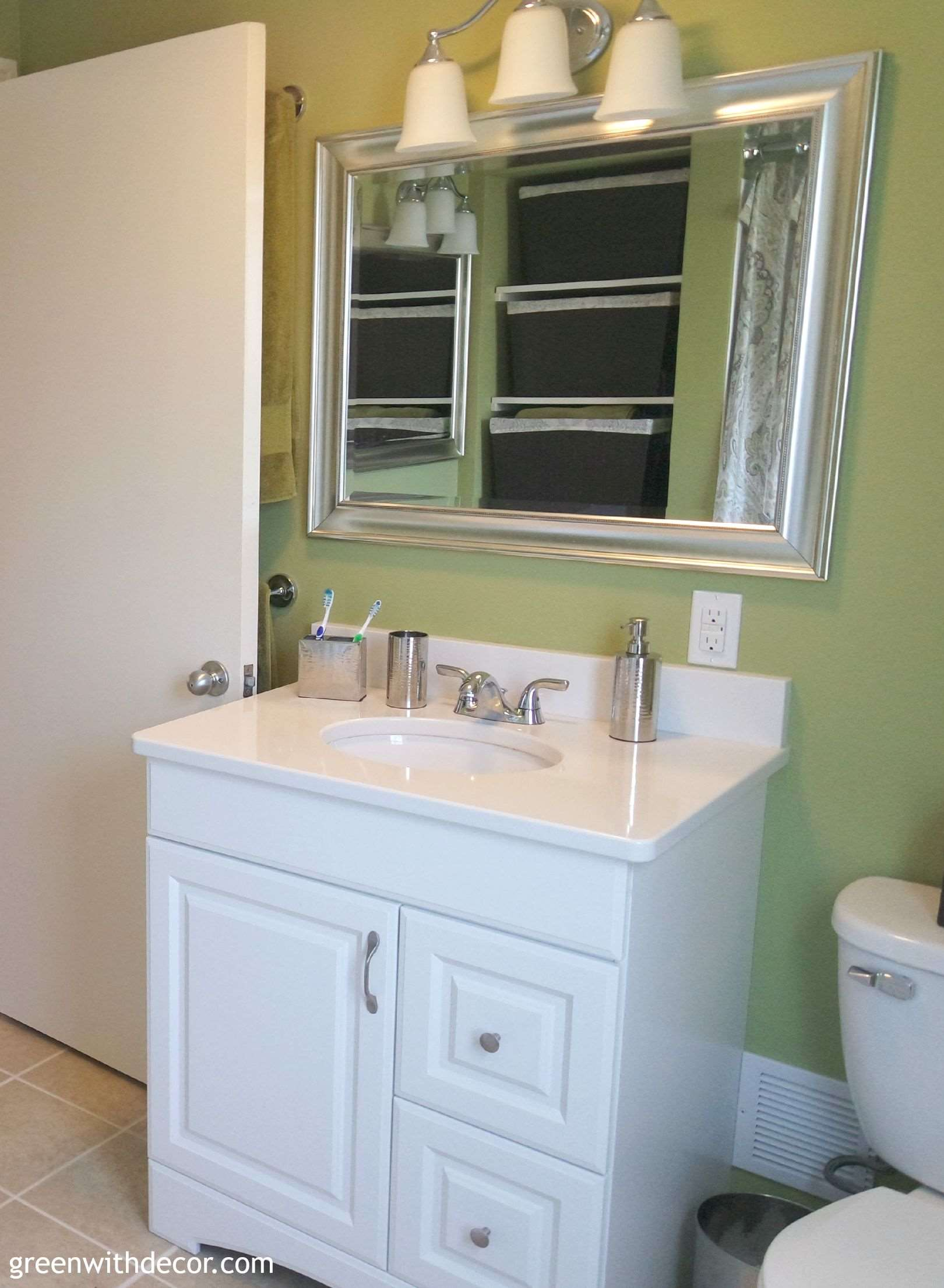 Green with decor buying bathroom vanities - Bathroom vanities 32 inches wide ...