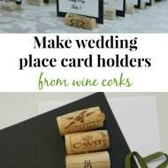 Make place cards from wine corks