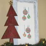 A Christmas craft with a stencil and an old frame: Create & Share Challenge