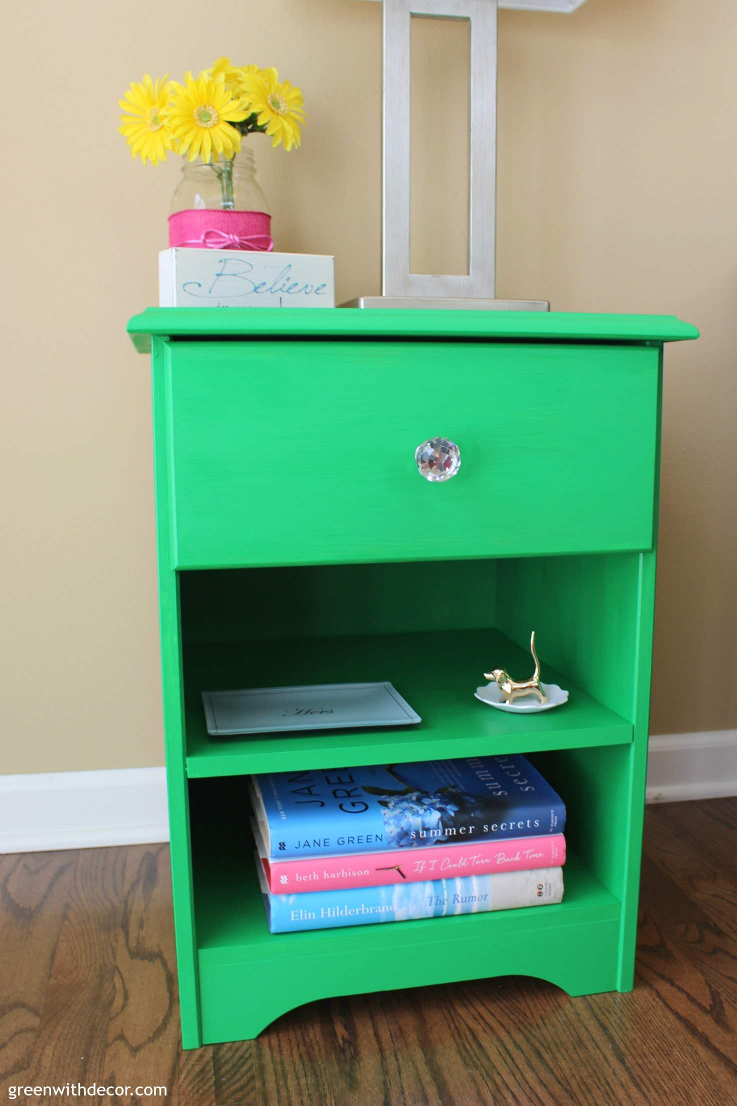An enchanting nightstand makeover