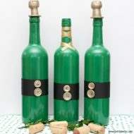 A St. Patrick's Day DIY project with old wine bottles