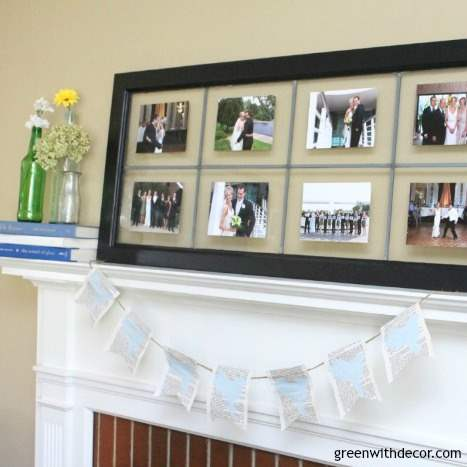 Update your spring mantel with an easy book page craft