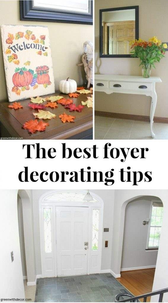 Best foyer decorating tips in one place - small budget, small space, rugs, wall decor, seasonal decorating ideas and more!